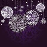Lilac achtergrond van Kerstmis Stock Fotografie