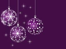 Lilac achtergrond van Kerstmis Royalty-vrije Stock Foto