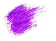 Lilac acrylic paint brush strokes. On white background Stock Image