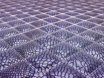 Lilac Alligator stitched skin Royalty Free Stock Photos