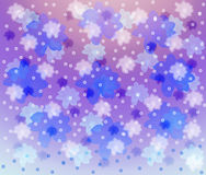 Lilac background with blue and pink florets. Royalty Free Stock Photo