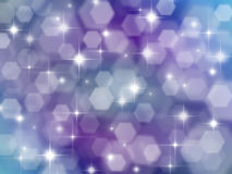 Lilac background with boke effect and stars Royalty Free Stock Photo