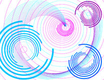 Lilac background with circle. Lilac abstract background with circle.Vector illustration Stock Photos