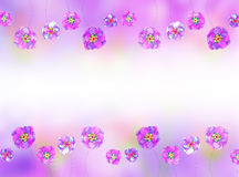 Lilac background with a pattern of flowers Stock Image