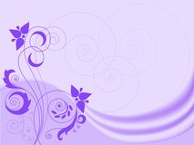 Lilac Background With Swirls