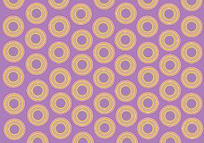 Lilac background, yellow rounds Stock Photo