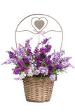 Lilac In A Basket Royalty Free Stock Photo