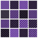 Lilac and black seamless tiling textures Stock Image