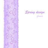 Lilac bloemgrens Stock Fotografie