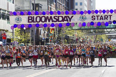 Lilac Bloomsday 2013 12k Run in Spokane WA Women's Elite Division from the start Royalty Free Stock Photography