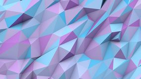 Lilac blue abstract triangles poly colors geometric shape background Stock Image