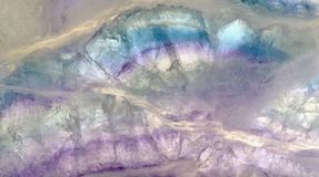 Lilac and blue fluorite macro