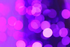 Lilac blurred lights Royalty Free Stock Image