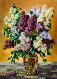 Lilac bouquet. In a vase Stock Image