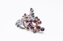 Lilac brooch Stock Image