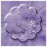 Lilac Bubble Flower Abstract. An design created from an original image of washing up bubbles Royalty Free Stock Image