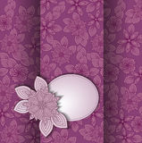 Lilac card Stock Photo