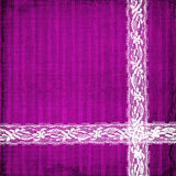 Lilac card for invitation with lace Stock Photo