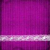Lilac card for invitation  with lace Stock Images