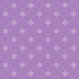 Lilac christmas background with snowflakes Royalty Free Stock Photography