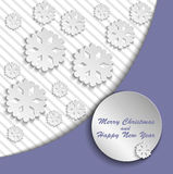 Lilac Christmas card Stock Image