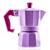 Lilac coffe pot Royalty Free Stock Images