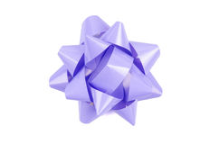 Lilac color Bow From Top Royalty Free Stock Photos