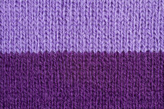 Lilac color wool knitted background closeup Royalty Free Stock Photos