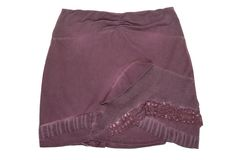 Lilac combined miniskirt royalty free stock photos