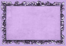 Lilac conice for painting or postcard Vintage frame border retro. Conice for painting or postcard linework Black Conice for painting or postcard Vintage frame Stock Photography