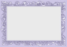 Lilac conice for painting or postcard Vintage frame border retro. Conice for painting or postcard linework Black Conice for painting or postcard Vintage frame Royalty Free Stock Images