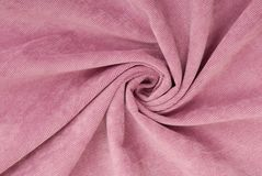 Lilac corduroy fabric Stock Images