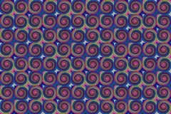 Lilac dark background with multi-colored circles green pink infinite row. Of colorful cell Royalty Free Stock Photography