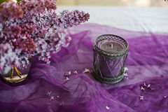 Lilac decoratie Royalty-vrije Stock Foto's