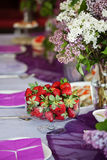 Lilac decoration. Party decoration in lilac colours Stock Images