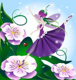 Lilac fairy royalty free stock images