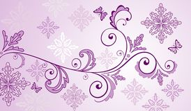 Lilac floral banner Stock Image