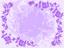 Lilac floral frame Royalty Free Stock Photography