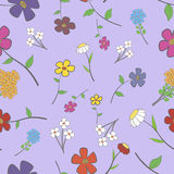 Lilac Floral Seamless Royalty Free Stock Image
