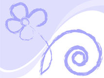 Lilac flower. Drawn in chalk on a white background Royalty Free Stock Images