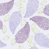 Lilac flower brunch. Seamless vintage floral pattern with stylized lilac flower brunch Royalty Free Stock Photos