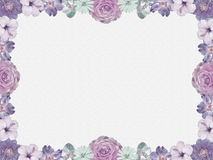 Lilac flower frame, nostalgic style Royalty Free Stock Photos