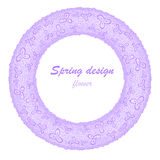 Lilac flower garland Royalty Free Stock Images