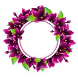Lilac Flower Round Frame Royalty Free Stock Photos