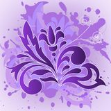 Lilac flower on the spray Stock Photos