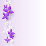 Lilac flowers border Royalty Free Stock Photo