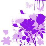 Lilac flowers and butterfly Royalty Free Stock Images