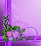 Lilac flowers on a checkered background Royalty Free Stock Images