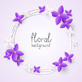 Lilac flowers frame Stock Photos