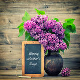 Lilac flowers. Happy Mother's Day Stock Photography